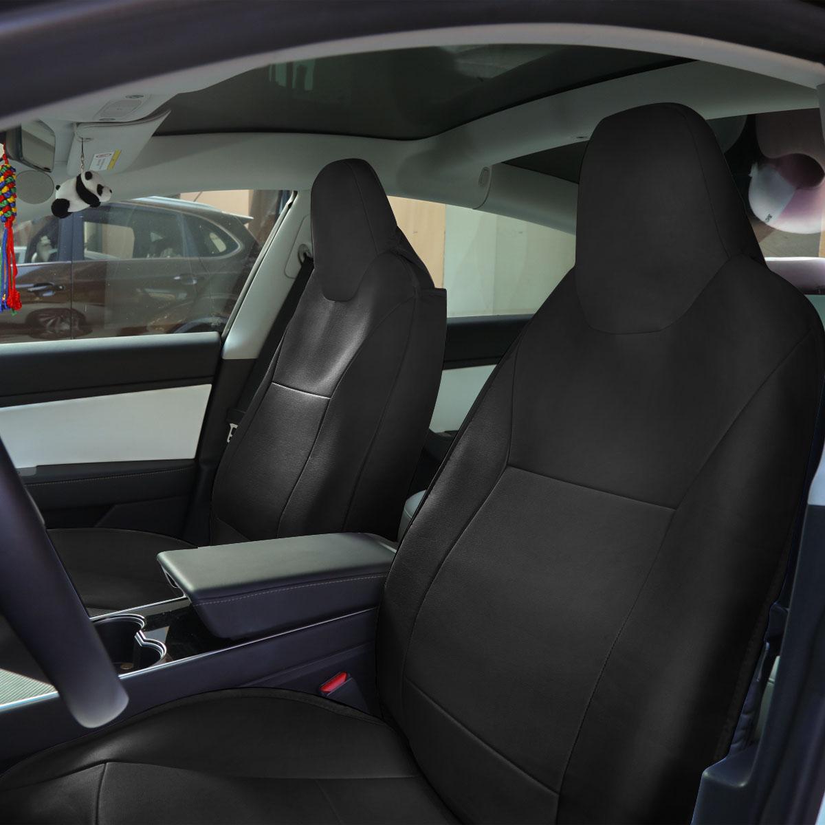 Black Car Seat Cover For Tesla Model 3 2016-2019 ...