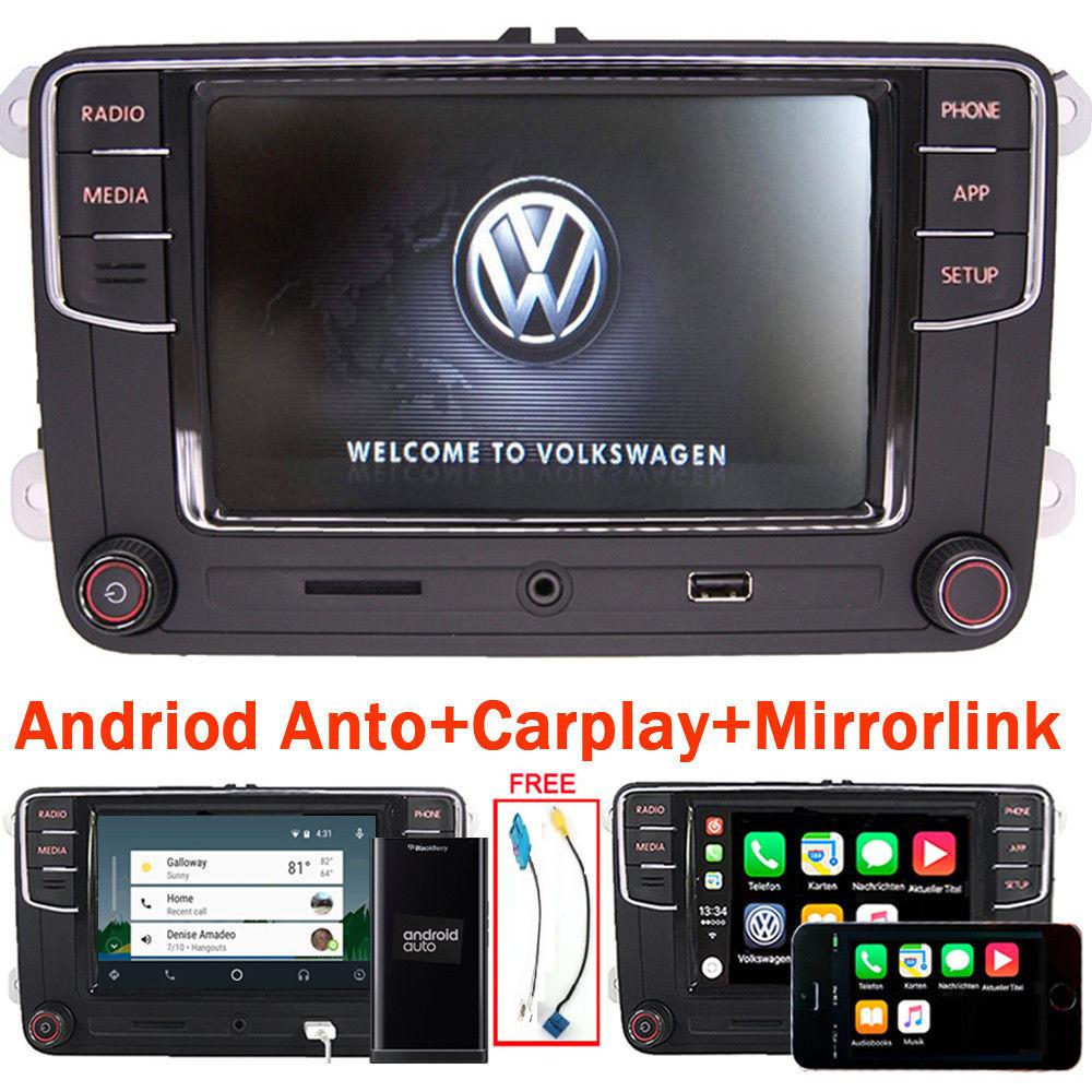 autoradio rcd330 bt carplay mirrorlink android auto rvc aux usb for vw skoda ebay. Black Bedroom Furniture Sets. Home Design Ideas