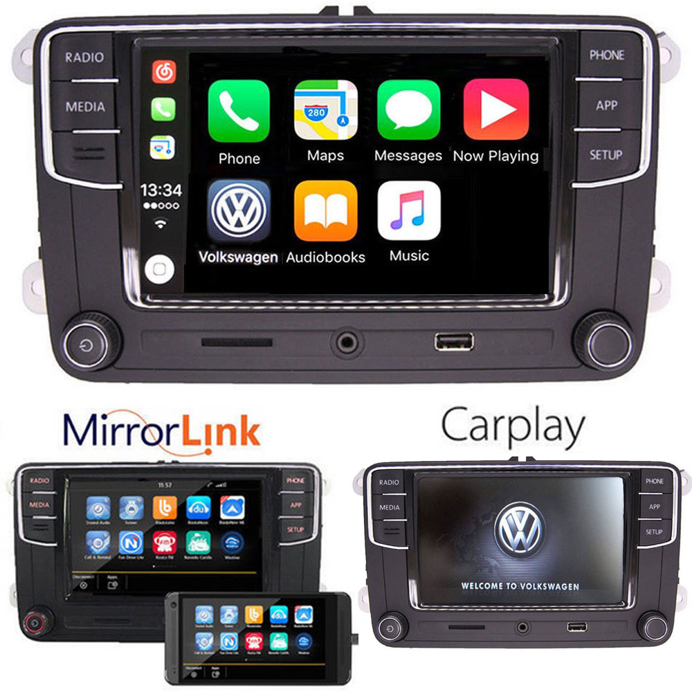 6 5 vw autoradio mib2 rcd330 187b carplay mirrorlink bt. Black Bedroom Furniture Sets. Home Design Ideas