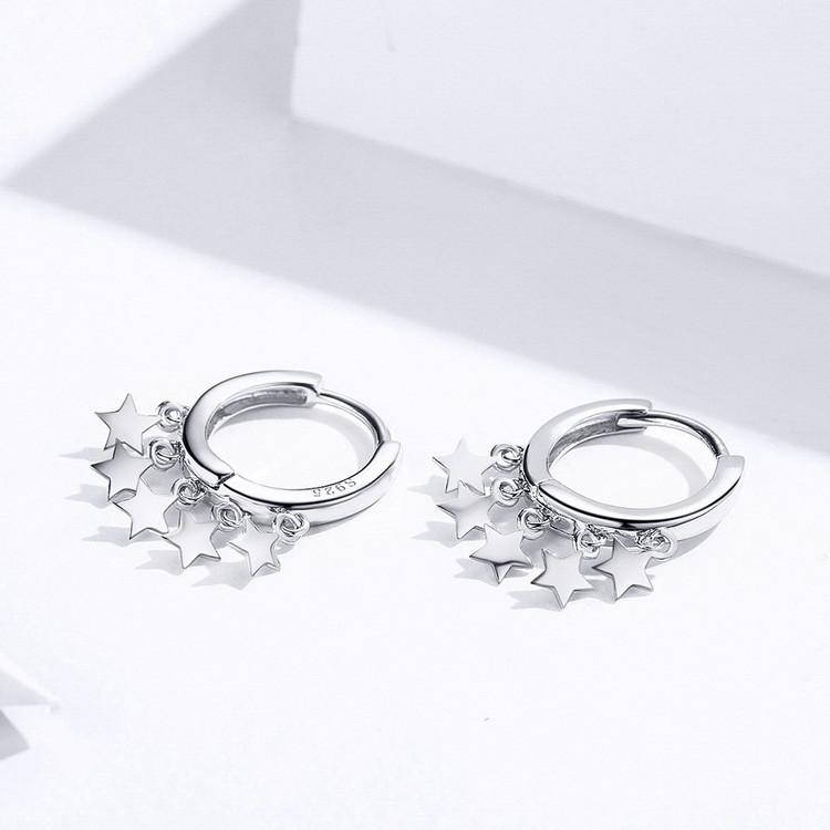 Voroco Optional DIY s925 Sterling Silver Stud Earrings Charm CZ Women Jewelry