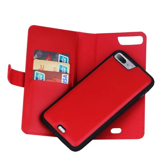 iphone flip photo new leather removable wallet magnetic flip card cover 1632