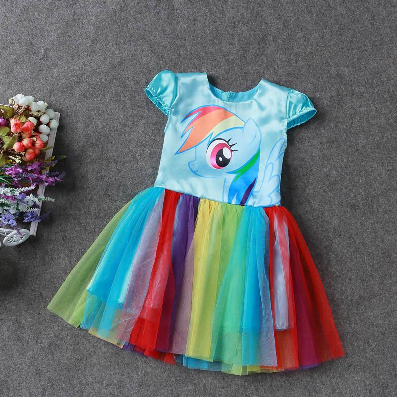 Cute My Little Pony Girl Dress Sundress Birthday Formal Party Tutu ...