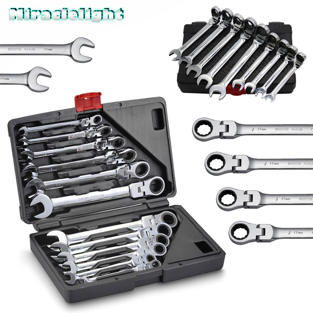 13PC DRAPER 12 POINT METRIC COMBINATION SPANNER RING OPEN WRENCH SET 6-19MM