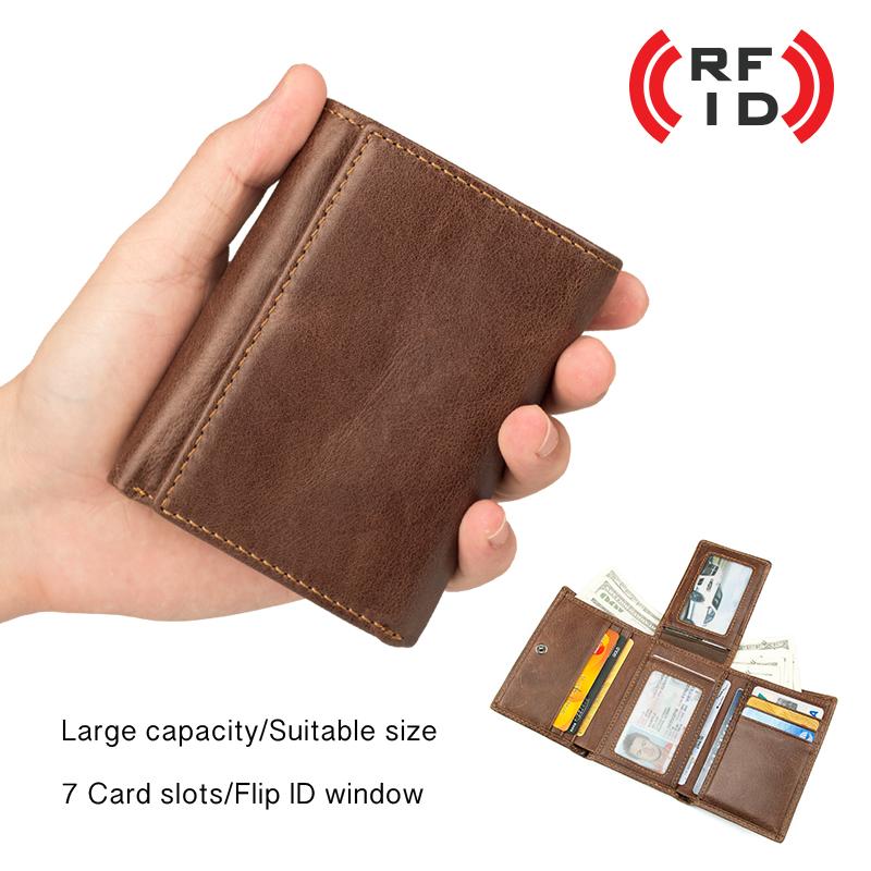 Herren Ledergeldb 246 Rse Aus Echtem Leder Geldbeutel Portemonnaie Mit Rfid Schutz Ebay