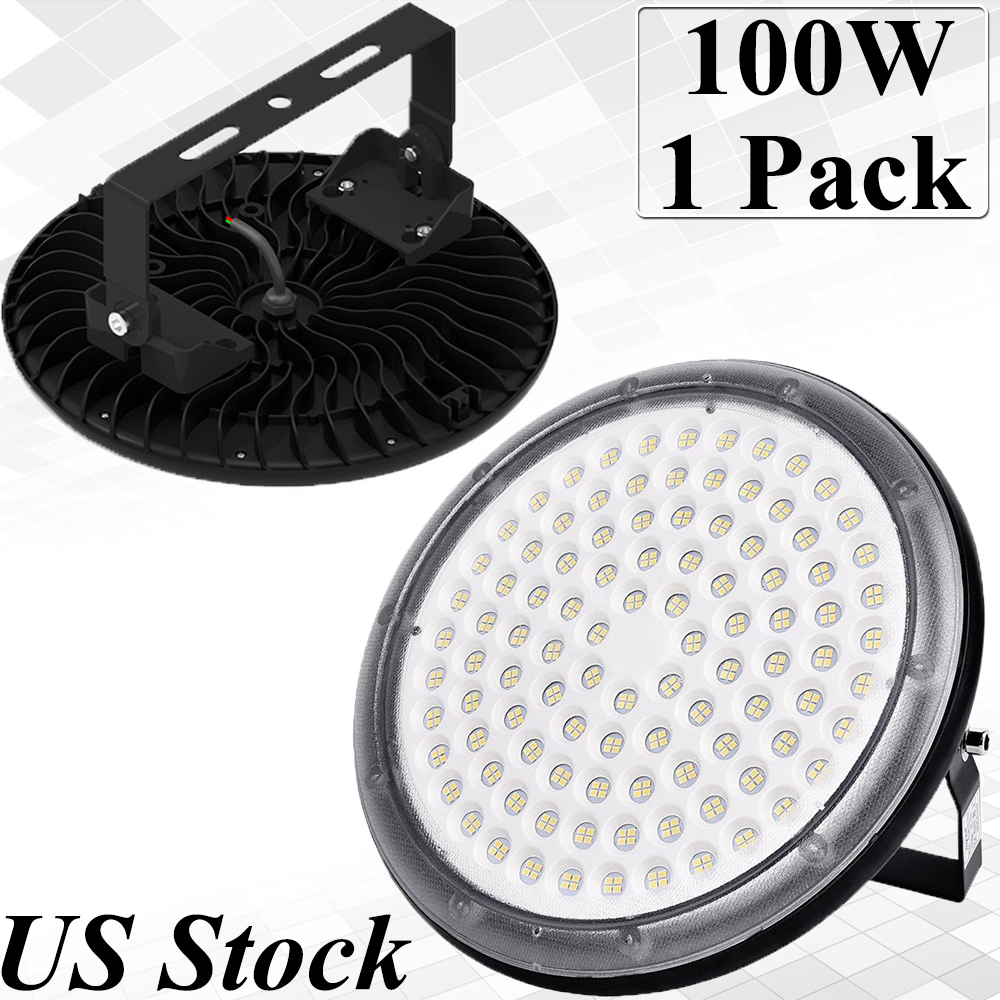 Details about 100w ufo led high bay lights fixtures warehouse factory waterproof ip67 daylight