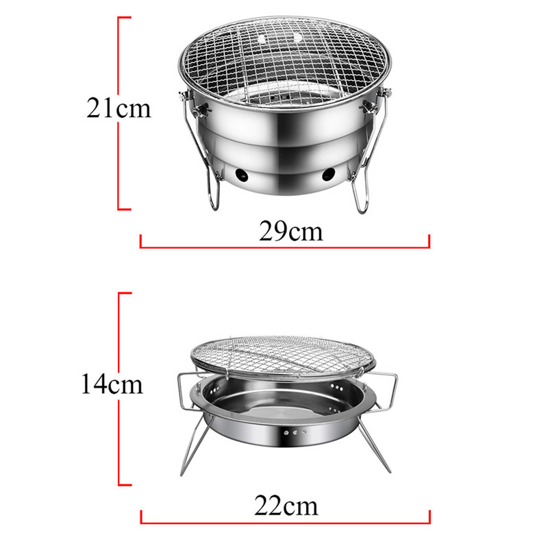 BBQ Barbecue Folding Portable Grill Charcoal Outdoor Camping