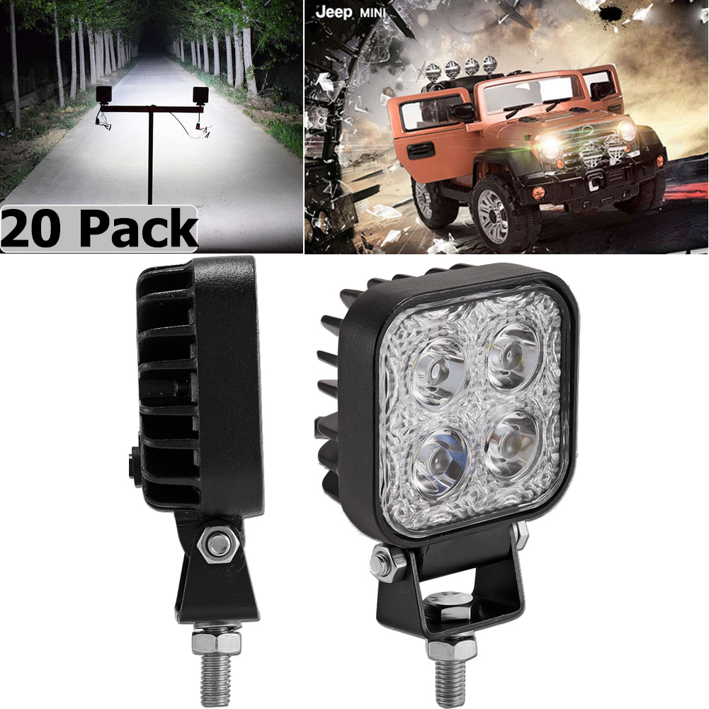 20X 48W Flood LED Off road Work Light Lamp Round boat Truck Driving UTE Vehicle