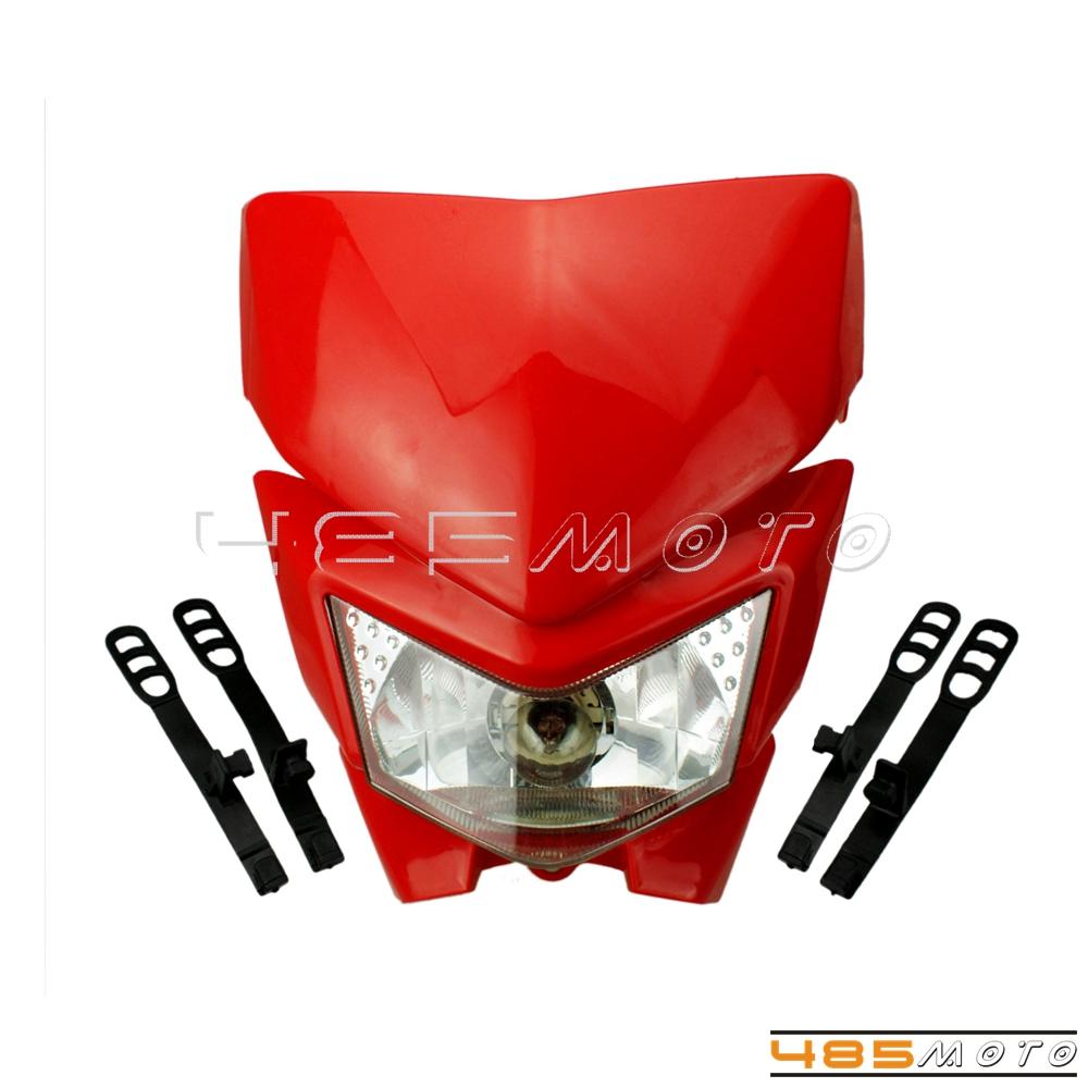 Supermoto Dirt Bike Headlight Lamp For Honda CRF150R CRF150R II XR125L CRF80F