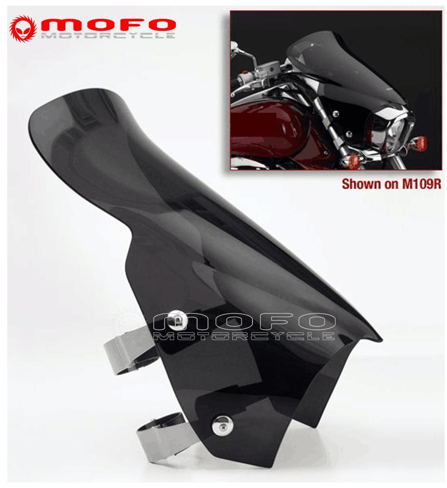 Motorcycle Dark Black Sport Windscreen Windshield For Suzuki
