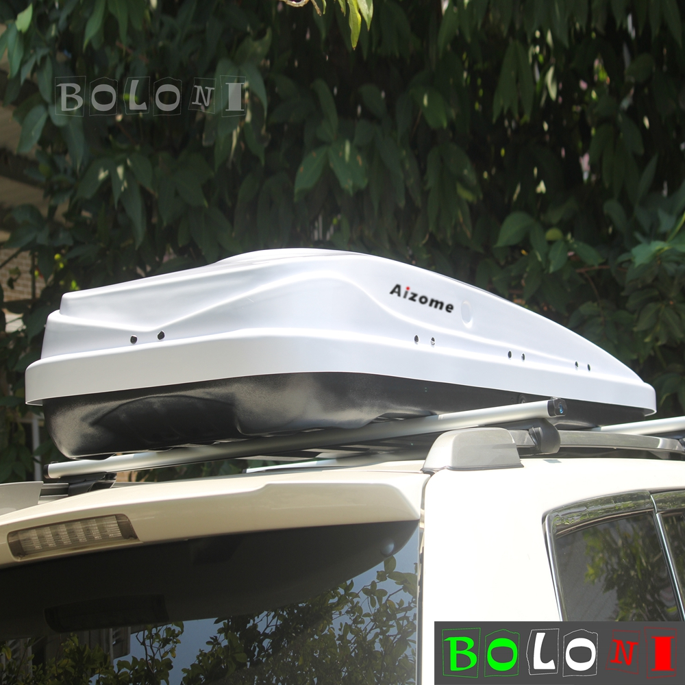 450l White Dual Side Opening Car Roof Top Rack Luggage Pod