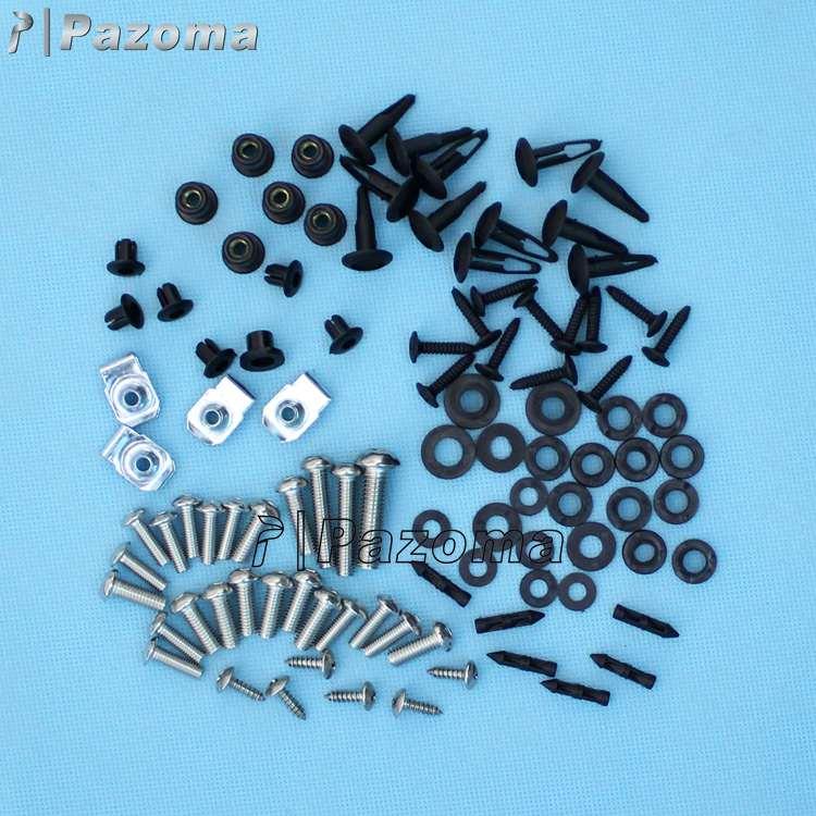 Complete Black Fairing Bolt Kit Screws Fasteners for Suzuki GSXR600 2001-2003 /& GSXR750 2000-2003 /& GSXR1000 2001-2002