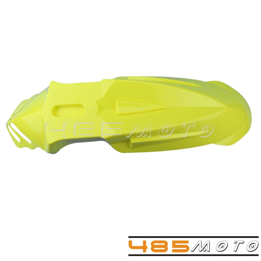 Yellow Front Fender ABS Plastic Pit Dirt Bikes Fender For Suzuki DRZ400E DR400