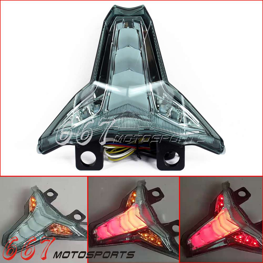 Motorcycle Sequential Signals LED Tail Light For 2014 2017 Kawasaki Z1000 Z 1000