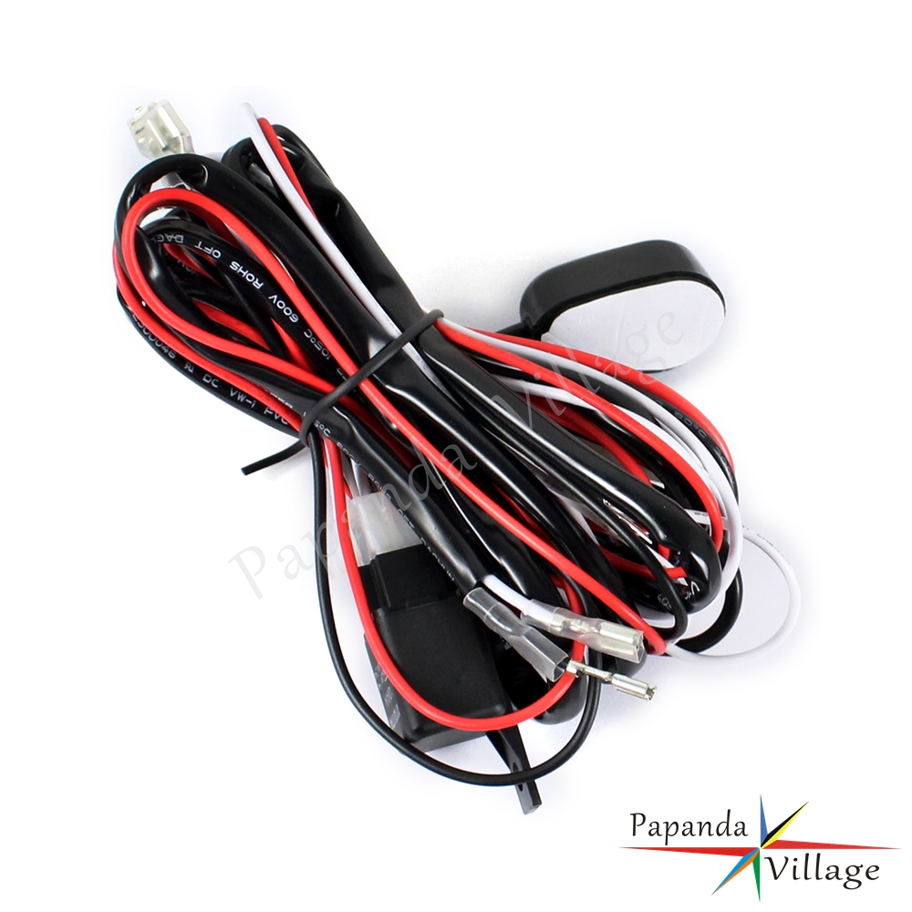 Led Auxiliary Fog Lights 40a Wiring Harness Switch For Bmw Motorcycle Tape R1200gs