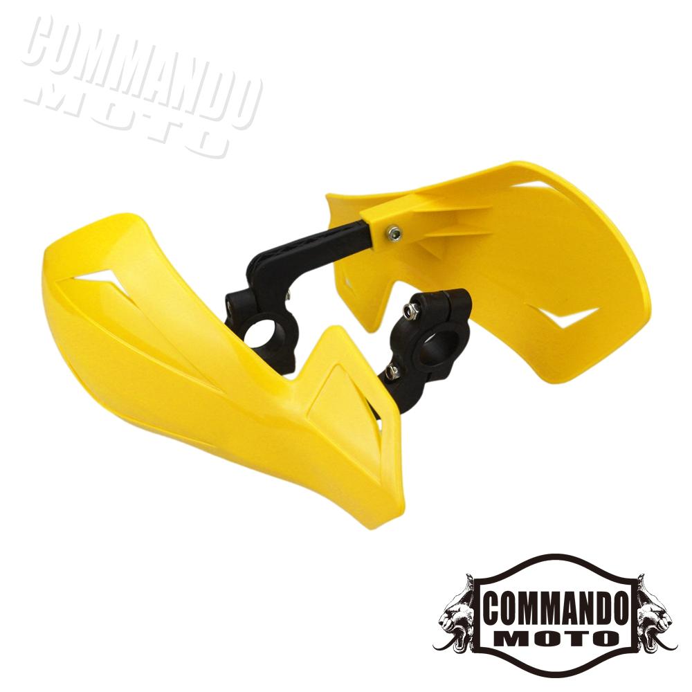 "7//8/"" Motorcycle Handguards For Honda Yamaha Dirt KTM MX ATV Dirt Bike Yellow"