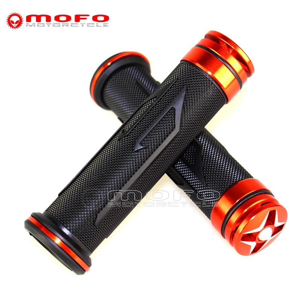 Red Universal Motorcycle Handlebar Grips CNC Aluminum Rubber Motorbike Handle Bar Grips for 7//8 Handle Bar Bike Bicycle