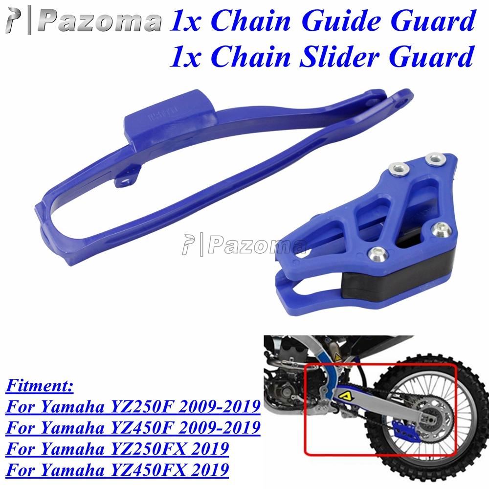 UFO Chain Guide Kit Swingarm Guide Set Yamaha WRF 250 450 2009-2020 Black