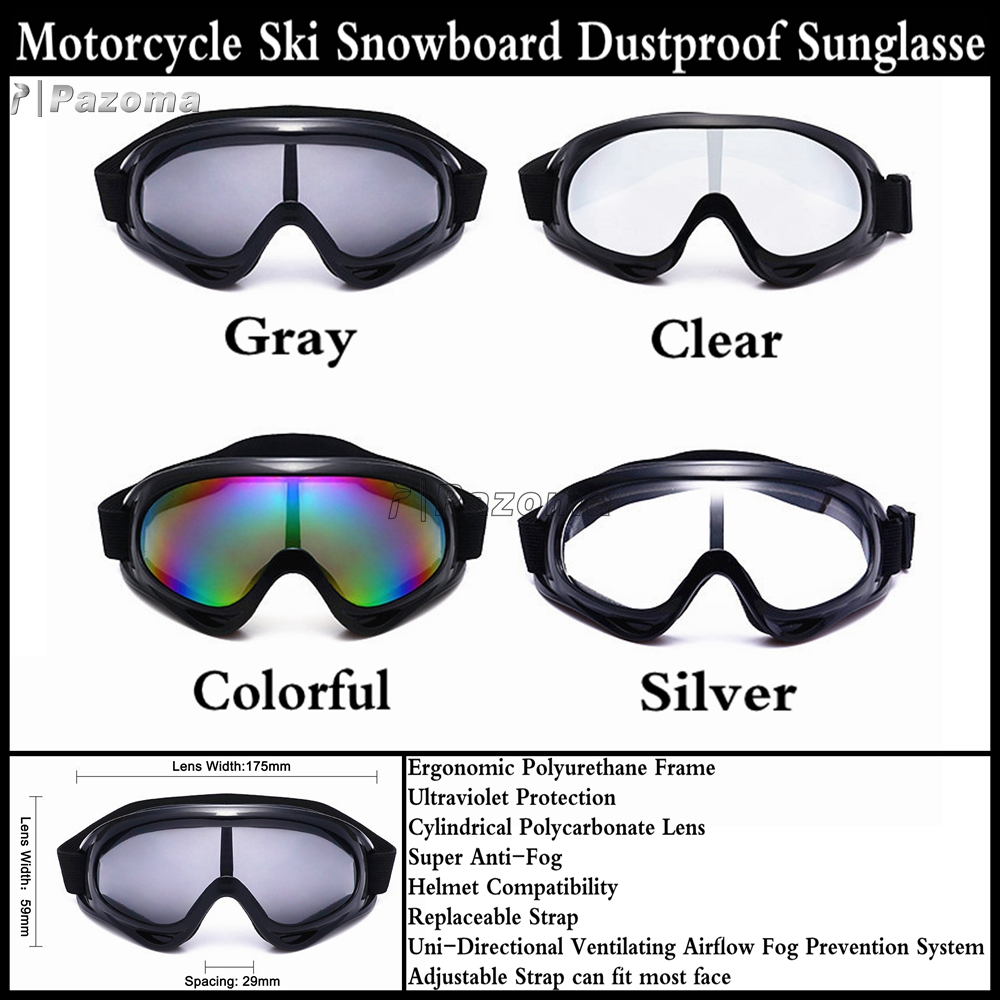 30c251acaba Motorcycle Ski Snowboard Dustproof Sunglasses Goggles Lens Frame Eye Glasses  New