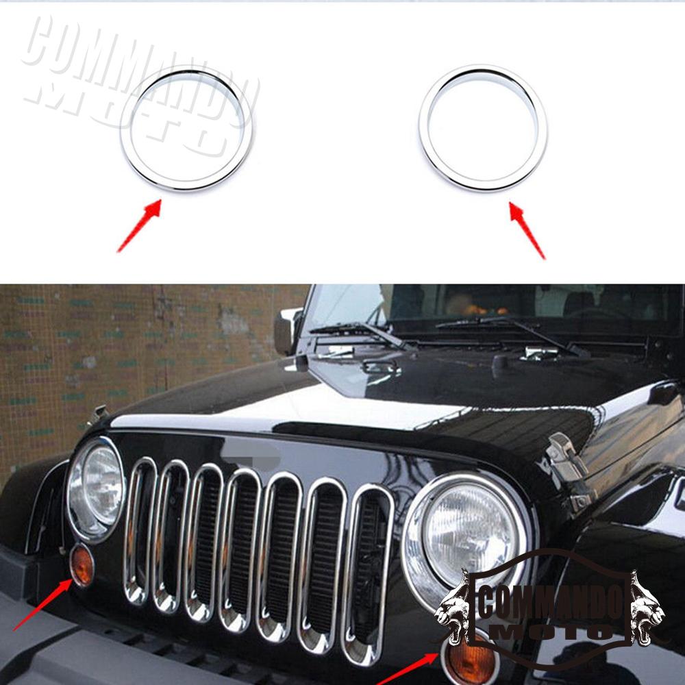 Car Wheel Trim Front Fender Turn Signl Light Black For Jeep Wrangler 2007-2016