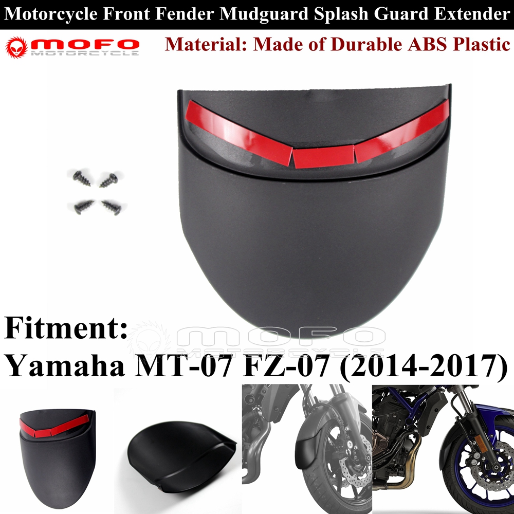 Front Fender Mudguard Extender Rear Extension For YAMAHA MT-07 MT07 FZ07 FZ-07