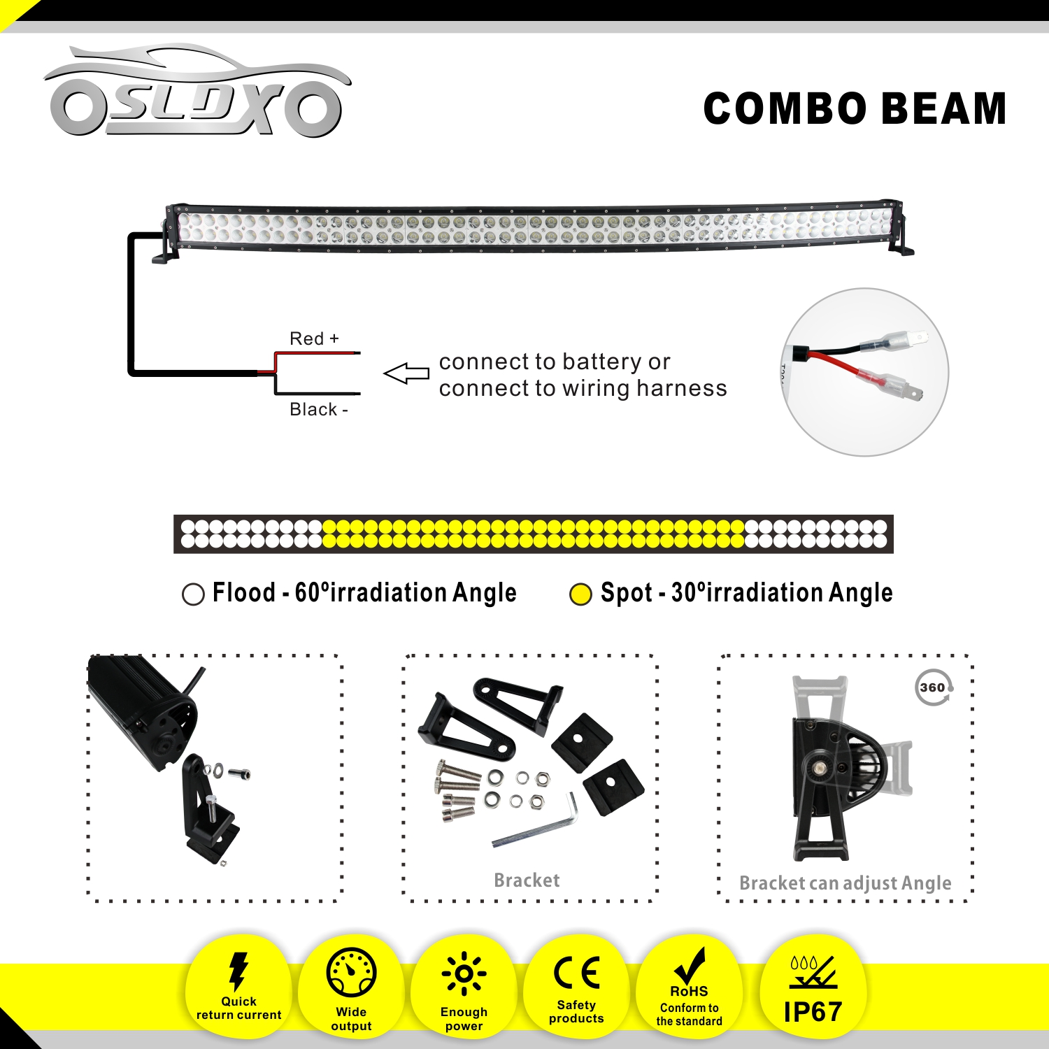 Curving Led Wiring Diagram For Use Blog About Diagrams Light Bar Harness Sldx 52300w Curved 2pcs 18w Spot Free Two