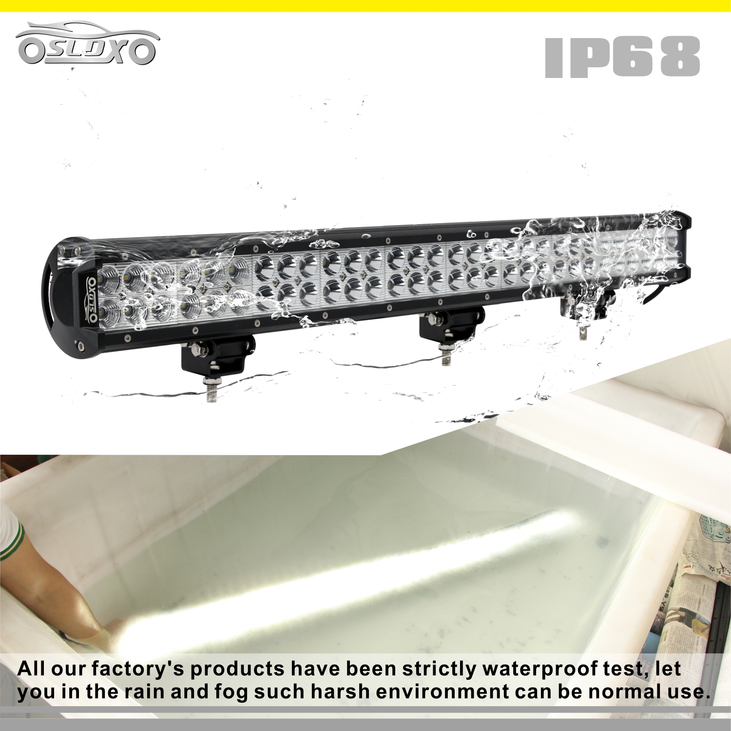 Sldx 28 180w Led Light Bar Spot Flood For Jeep Off Road Free Wiring A Rain 039