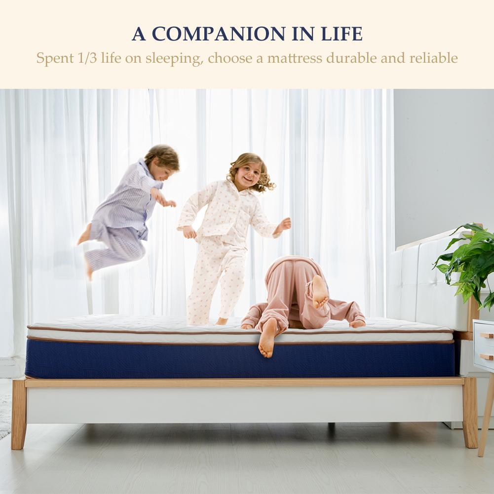 BedStory Modern 10inch Spring Mattress Gel Memory Foam Bed KING-Size Latex NEW