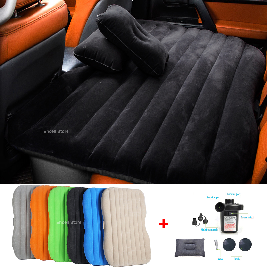 Inflatable Seat Sofa: Inflatable Car Mobile Cushion Seat Sleep Rest Mattress