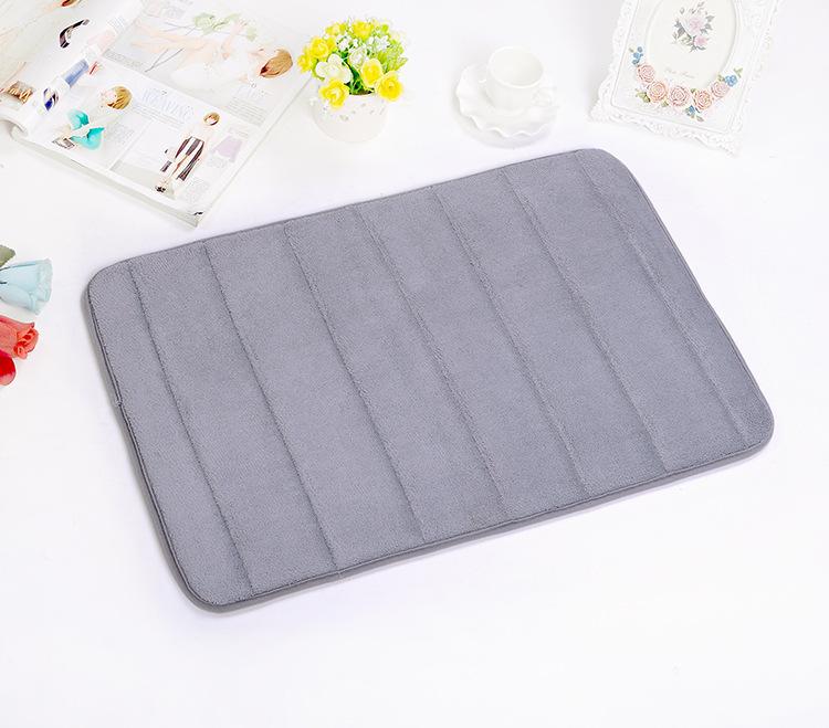 Memory Foam Bath Mat Non Slip Soft Anti Bacterial Bathroom