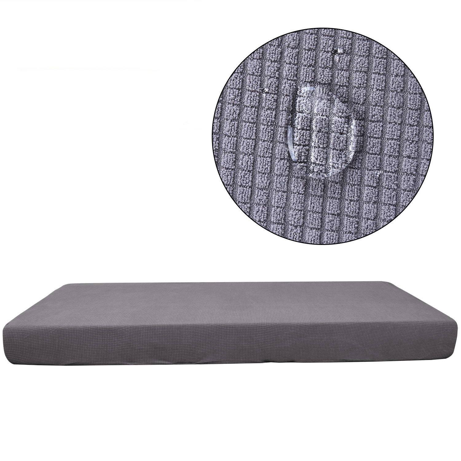 1 4 Seats Waterproof Stretchy Sofa Seat Cushion Cover