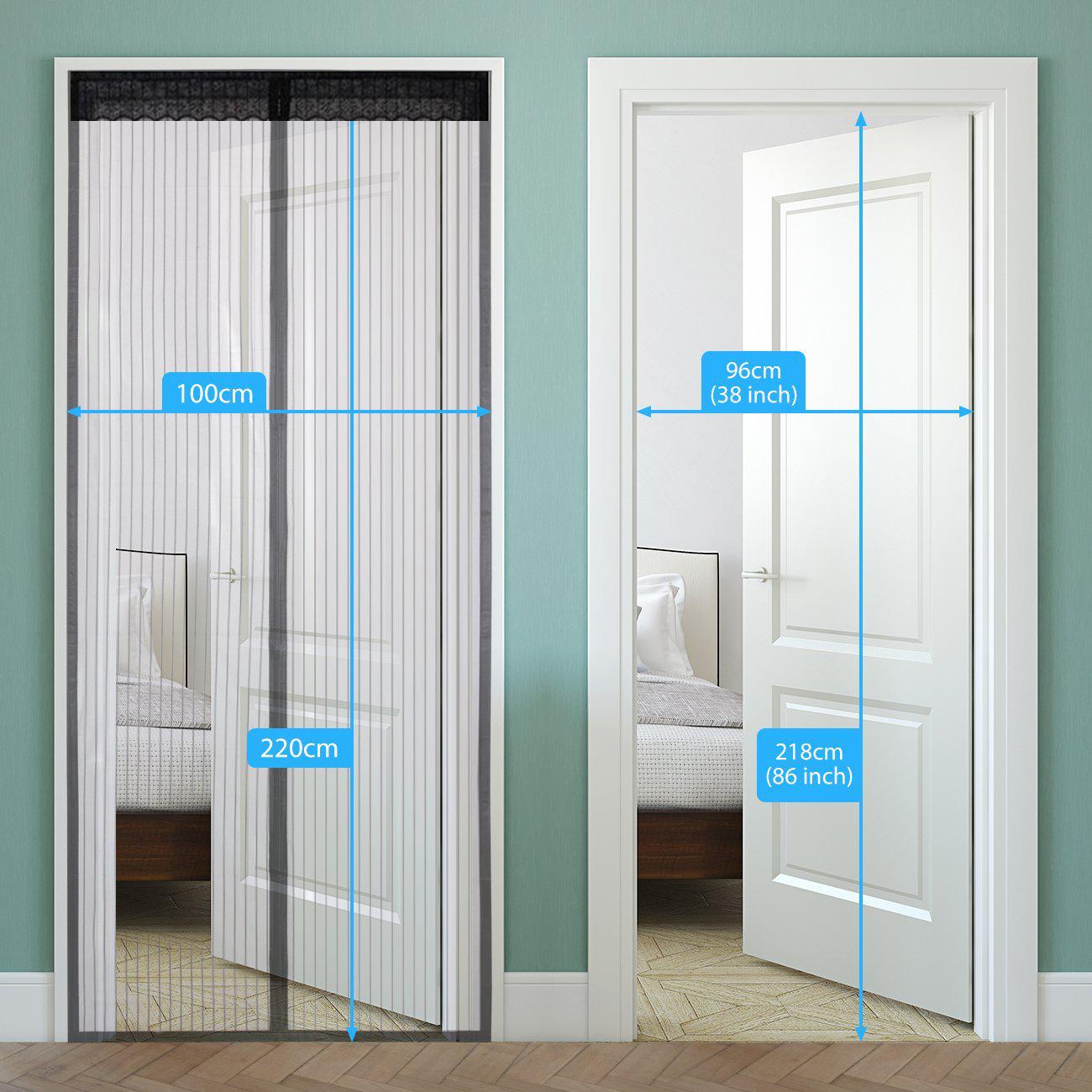 Magic Door Mesh Magnetic Curtain Fastening Hands Free