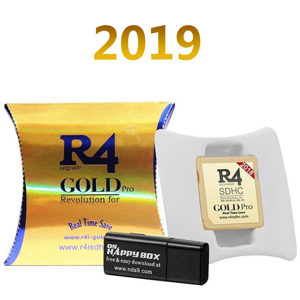 Details about R4 Gold Pro SDHC for Nintendo DS/3DS/2DS/ Revolution  Cartridge With USB Adapter