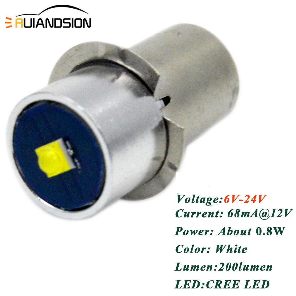 MES E10 vis DEL Upgrade Bulb CREE BMW GloveBox Rechargeable Torche//Lampe de Poche