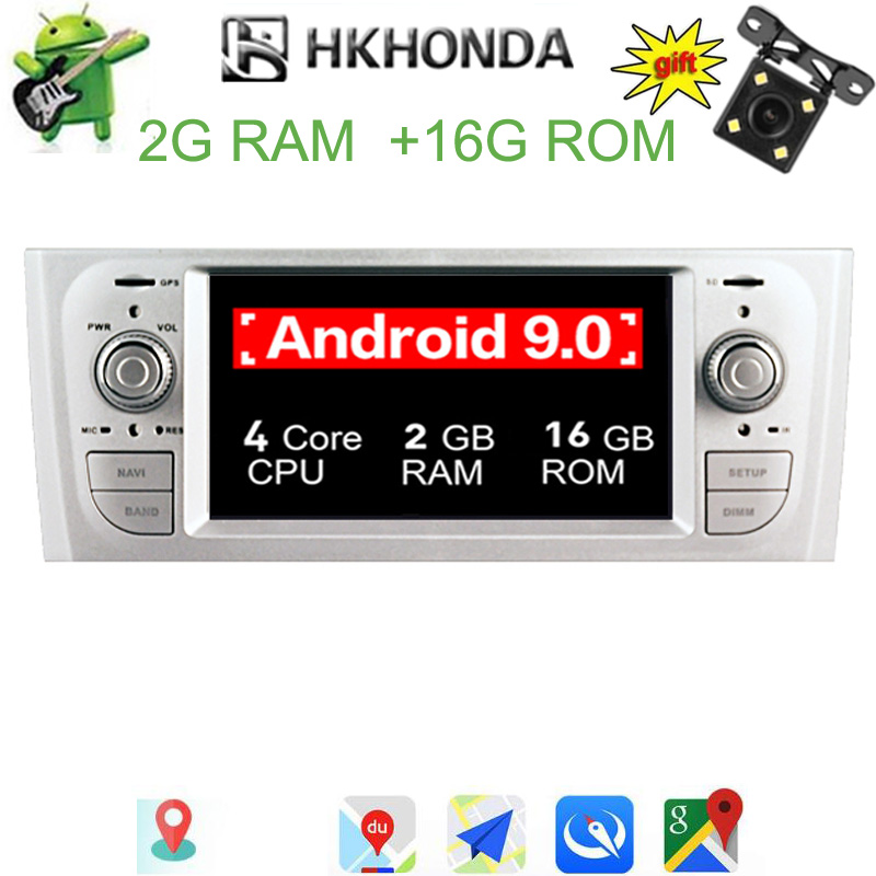 Android 9 0 Car GPS Wifi Radio stereo Dash player BT for Fiat Grande