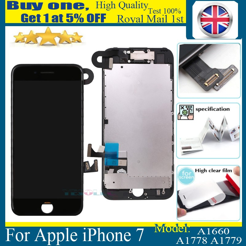 For iPhone 7 Full LCD Display Touch Screen Digitizer Replacement + Camera  Black 96907c0a09