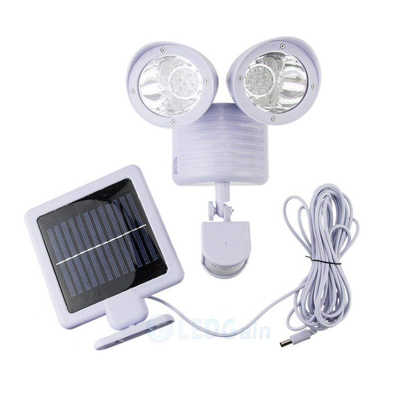 22 Led Dual Solar Motion Sensor Spot Light Outdoor