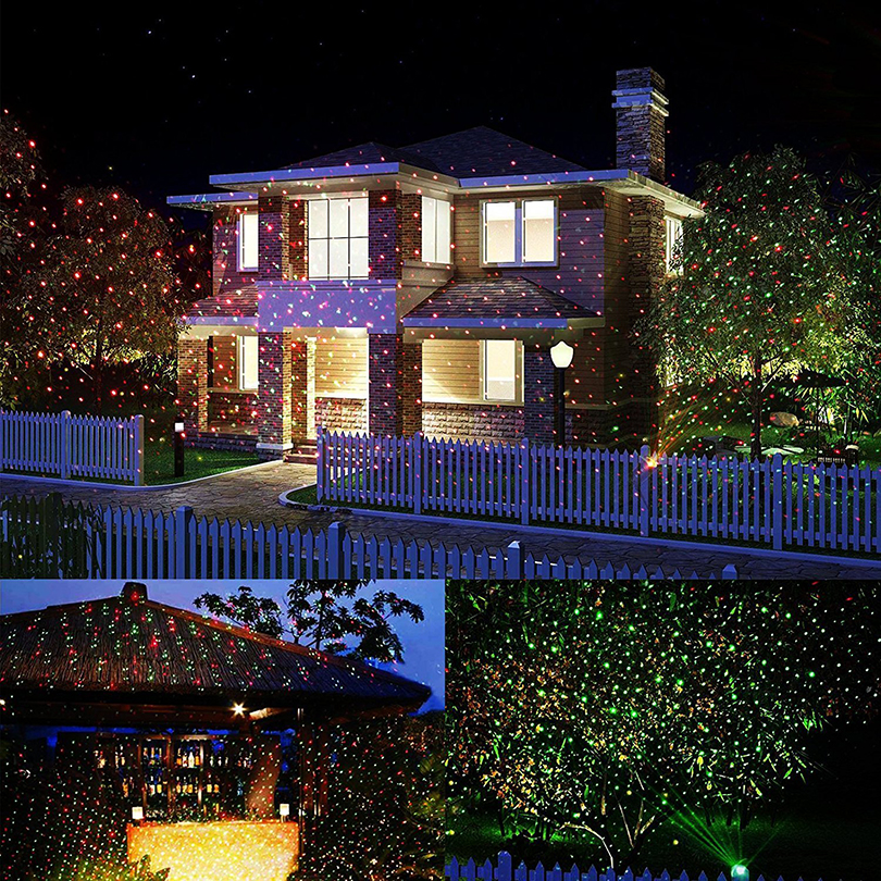 lamp red decorative product green led waterproof christmas lawn lighting timer stage lights outdoor garden decoration rbvaevd laser and strobe light auto store control projection