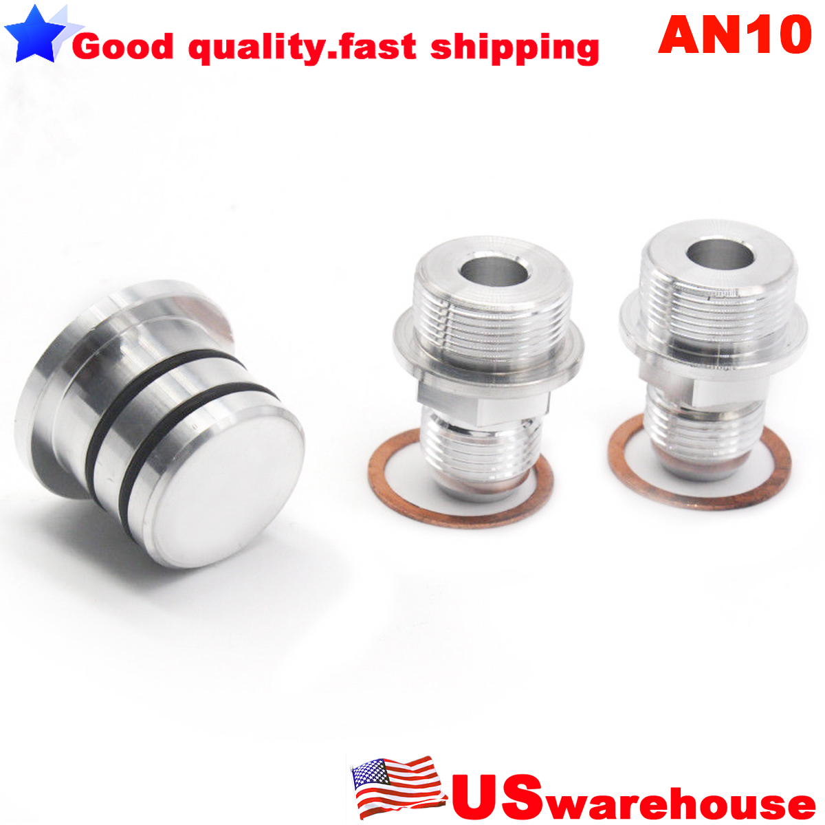 REAR BLOCK BREATHER FITTINGS AND PLUG FOR B16 B-16 B18C CATCH CAN M28 TO 10AN