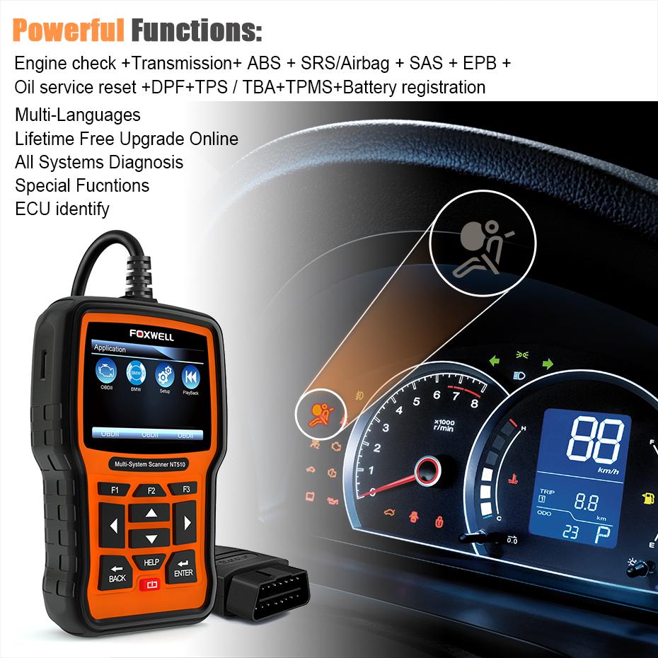 Details about For DODGE JEEP Chrysler Automotive Diagnostic Scanner ABS SRS  OBDII Code Reader