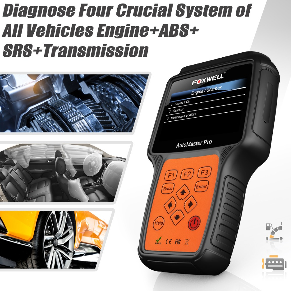 Full System ABS SRS Airbag TMC Tool Foxwell OBD Scanner Reader Diagnostic Four