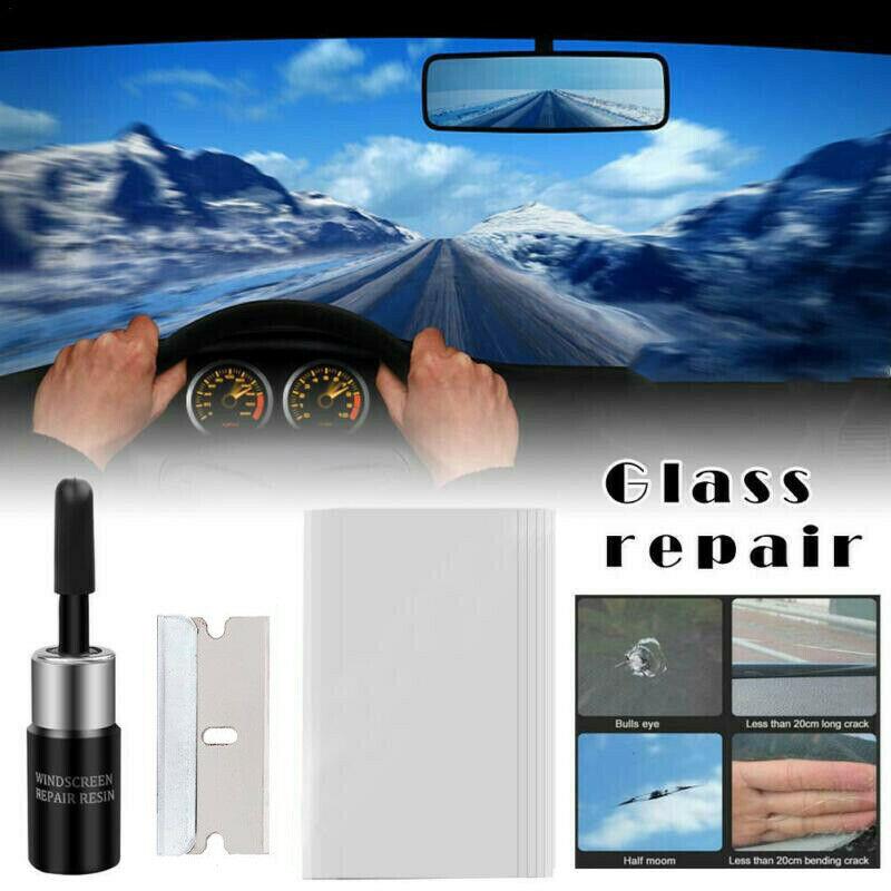 1 Set Car Window Glass Crack Chip Resin Windscreen Windshield Repair Tool Kit