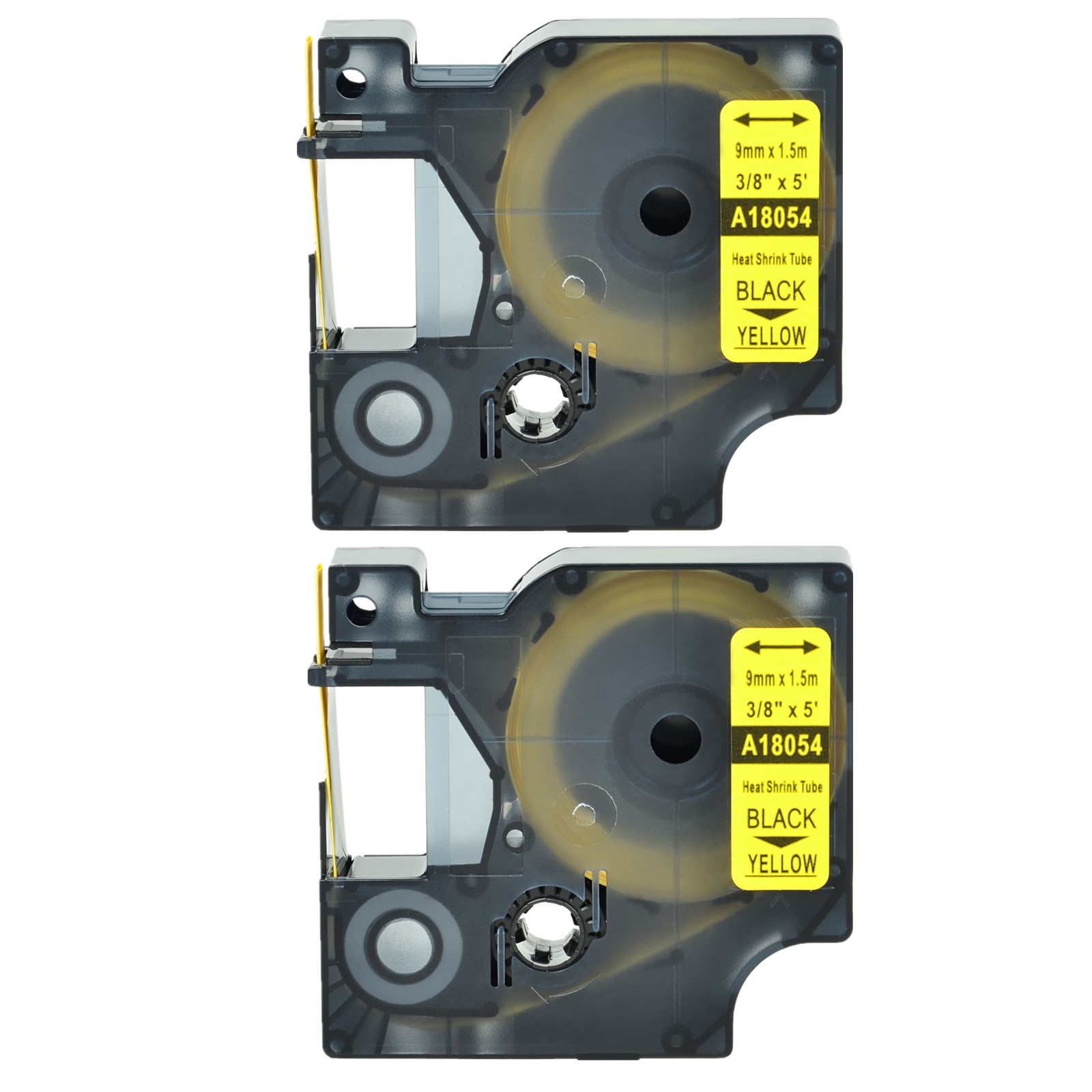 6PK 18051 S0718260 Heat Shrink Tube Label Tape for DYMO Rhino Black on White 6MM