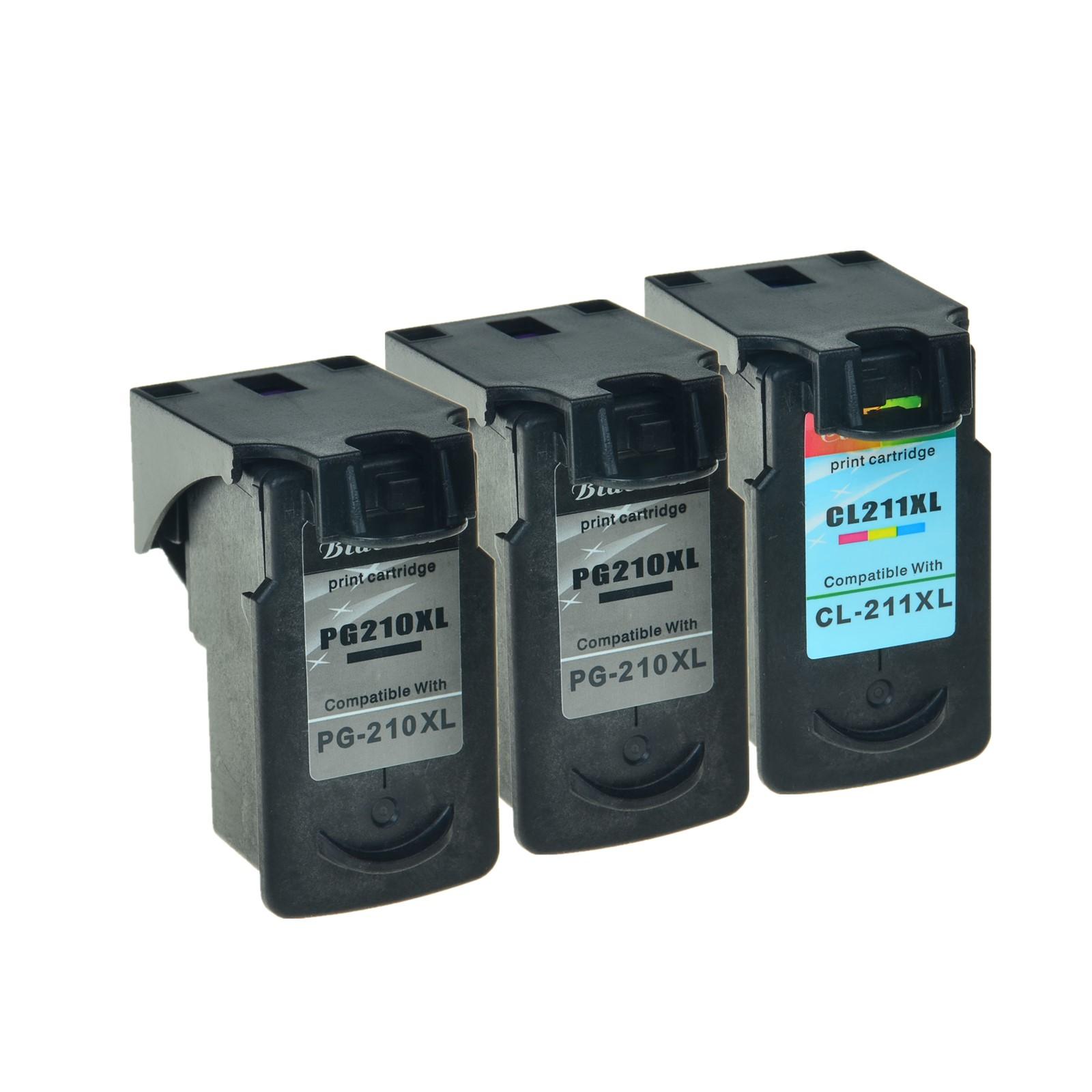 2PK 210XL Black 1PK 211XL Color Ink Cart For Canon PIXMA MP280 MP490 MP250 MP230