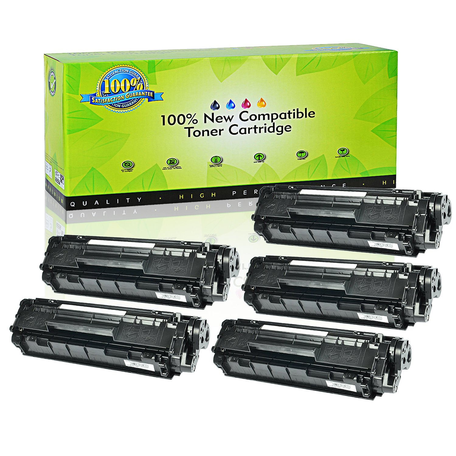 3 Pack Q2612A 12A Toner Cartridge for HP LaserJet 3020 3030 3050 3052 3055 M1319