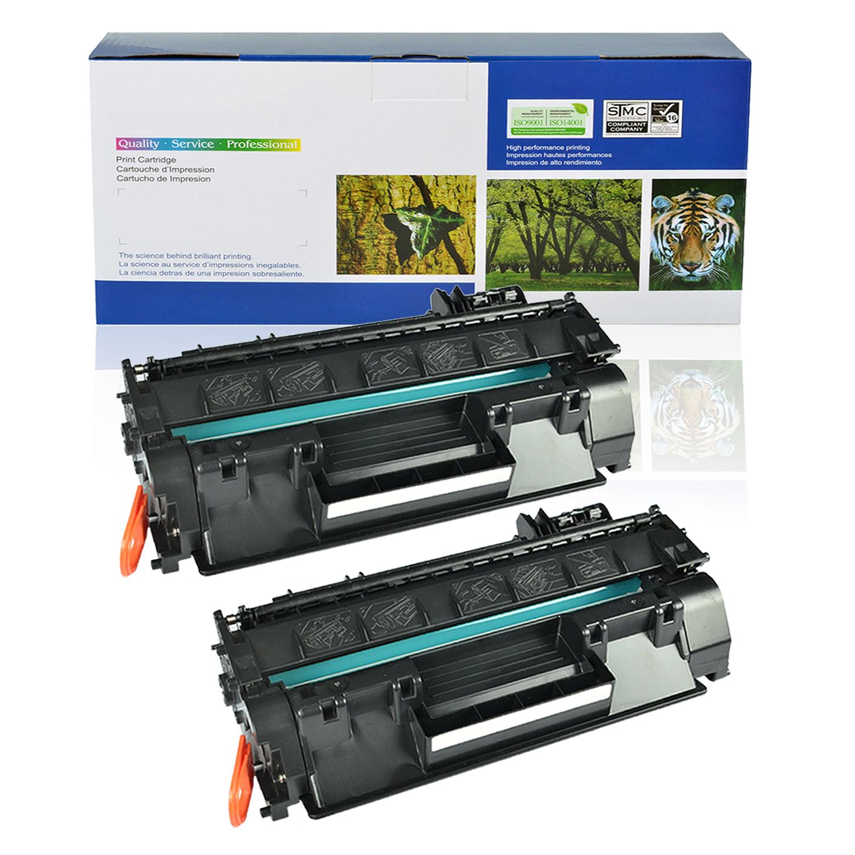 2 Pack CF280X Black Laser Toner Cartridge for HP LaserJet Pro 400 M401dn Printer