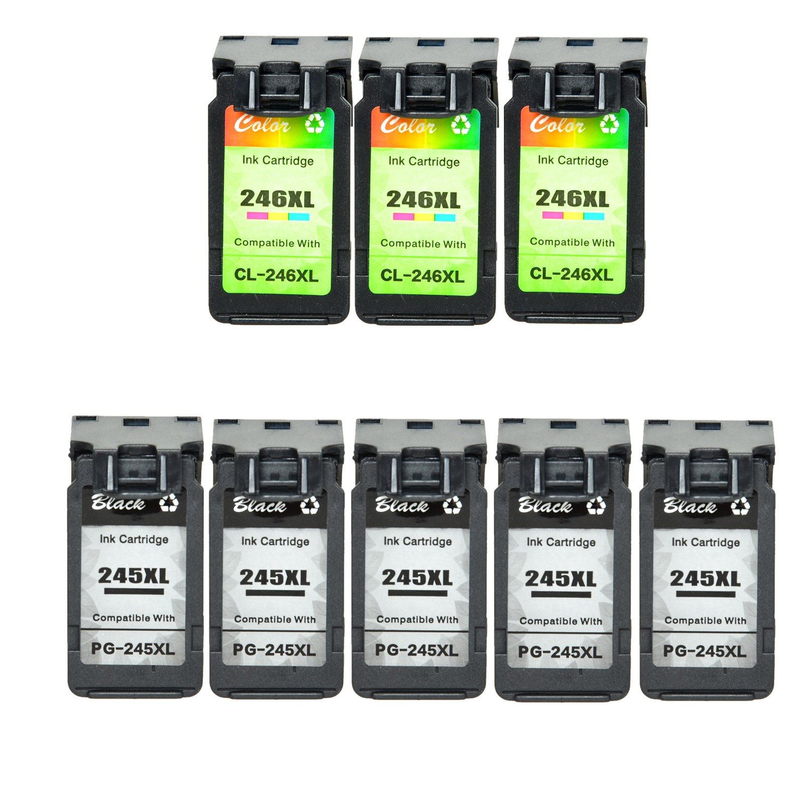5PK CL246XL Color Ink Cartridge for Canon PIXMA MG2520 MG2924 MX490 MG2420 MX492