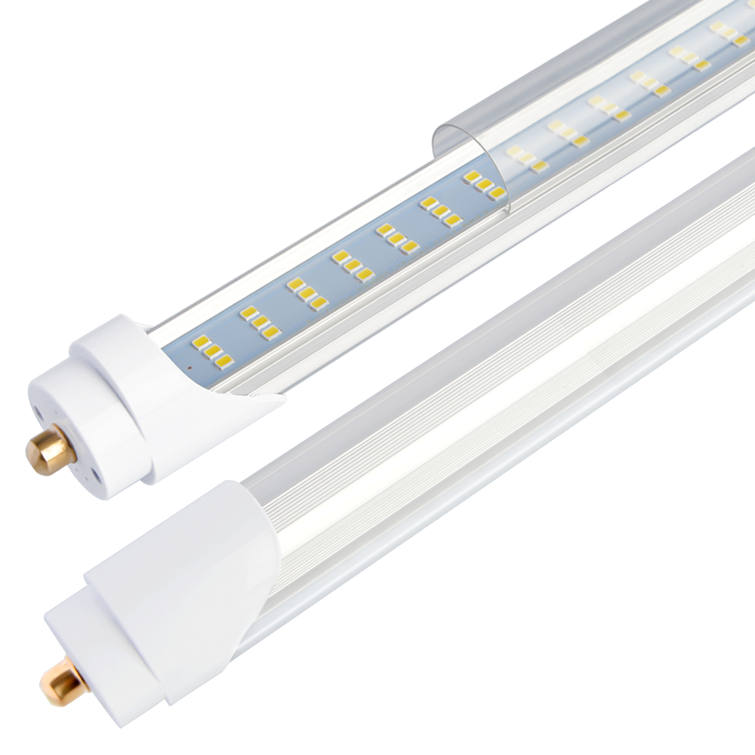 8 T8 T12 Led Tube Light  120w 6000k Clear Cover 96 3 Row