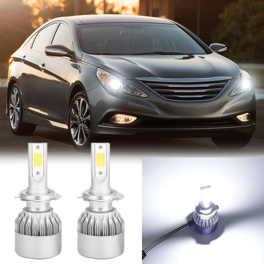 a set led headlight driving lights white beam bulbs for hyundai sonata 2002 2014 ebay ebay