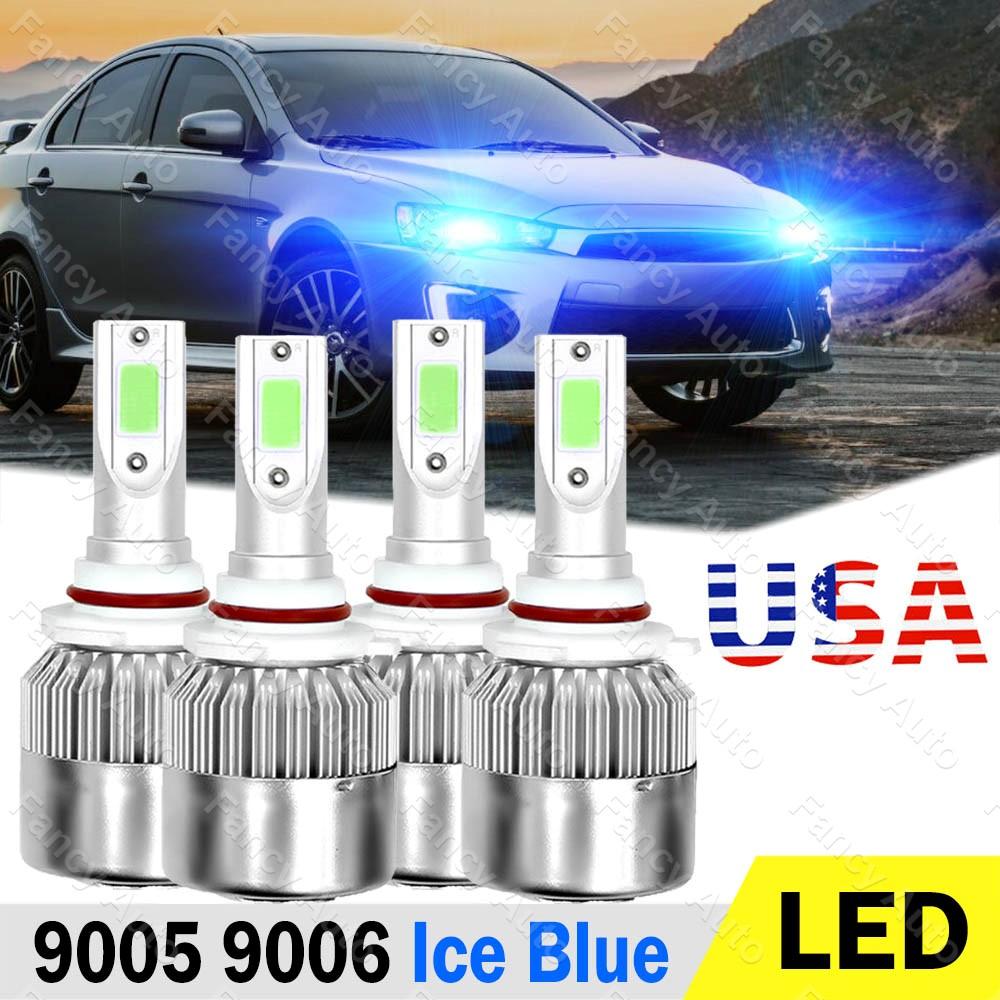 Ice Blue 9006 HB4 LED Headlight Bulb Low Beam C6 For Mitsubishi Lancer 2005-2017