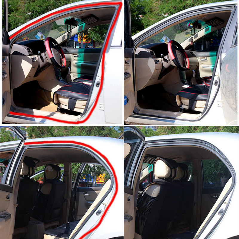 Universal 5M B Type Car Door Edge Trim Rubber Seal Strip Anti-dust Weatherstrip